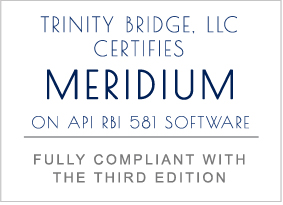 MERIDIUM ADDS API 581 3RD EDITION TO APM MECHANICAL INTEGRITY